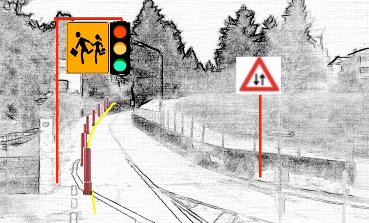 Le modifiche alla viabilità in via Asmara (© Stefano Introini)