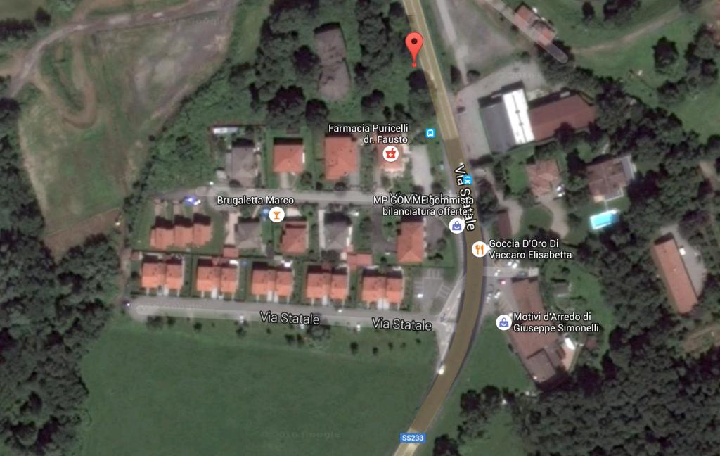 Il luogo dell'incidente: che ha coinvolto oggi pomeriggio un 39enne a Cugliate Fabiasco