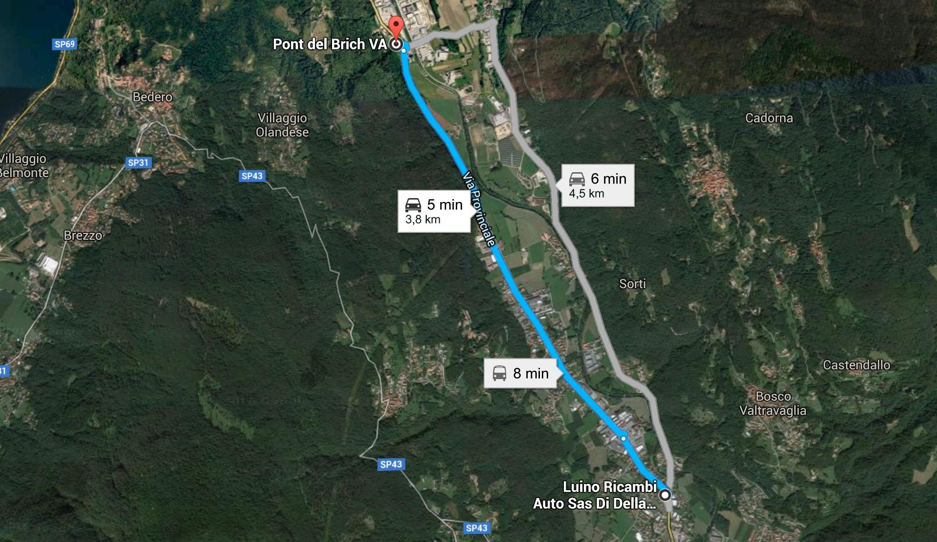Maltempo, chiusa la strada tra Germignaga e Mesenzana. Sul posto i tecnici ANAS e Vigili del Fuoco