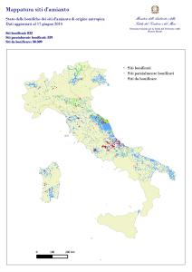 Lo stato delle bonifiche dall'amianto in Italia