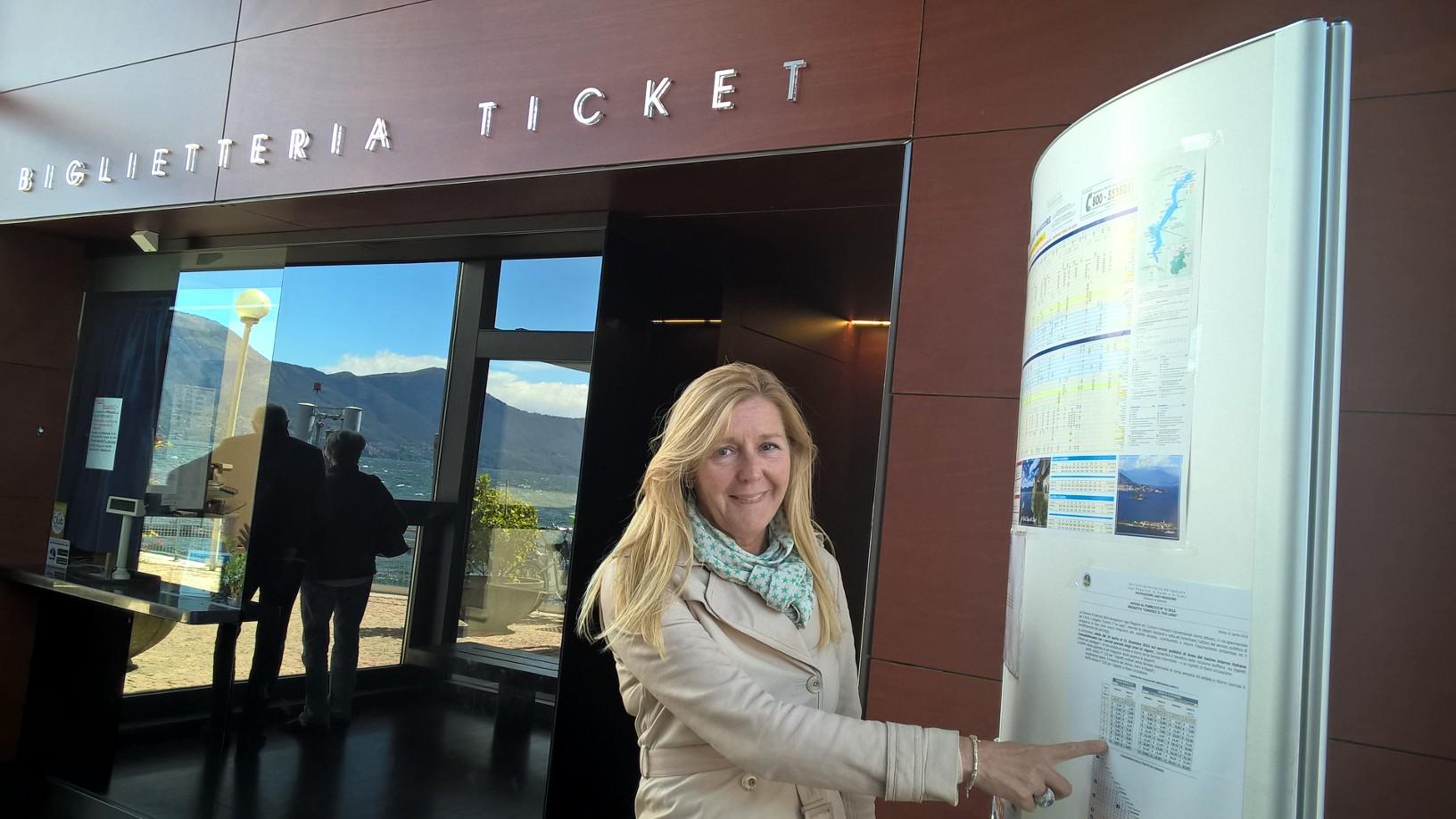 L'assessore allo Sviluppo Economico, Alessandra Miglio all'Imbarcadero di Luino