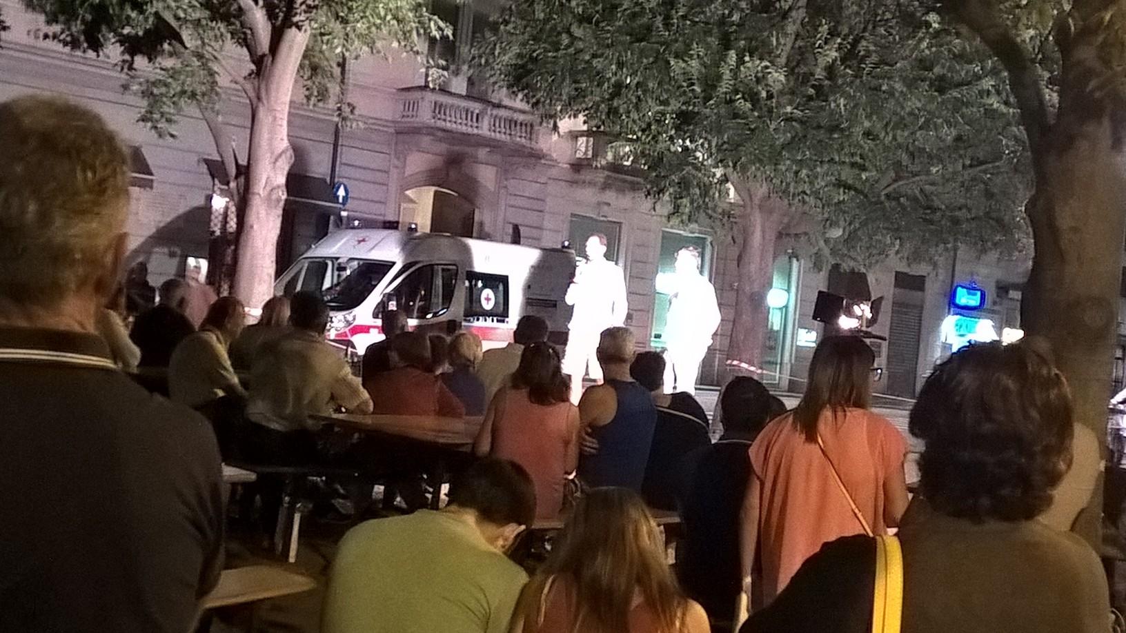 Luino: le foto dell'Amatriciana in piazza Garibaldi di sabato sera