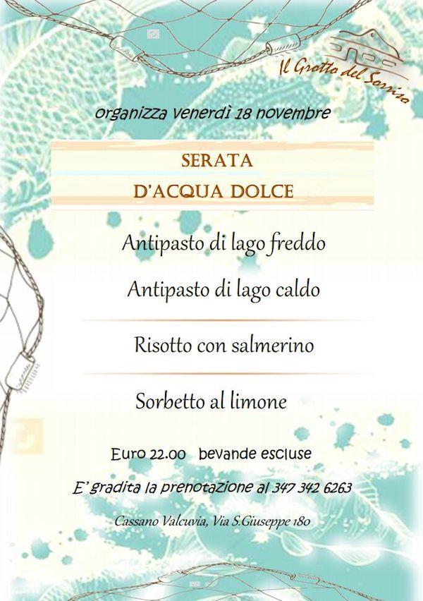 """Cassano Valcuvia, domani al """"Grotto del Sorriso"""" un tuffo tra piatti in """"acqua dolce"""""""