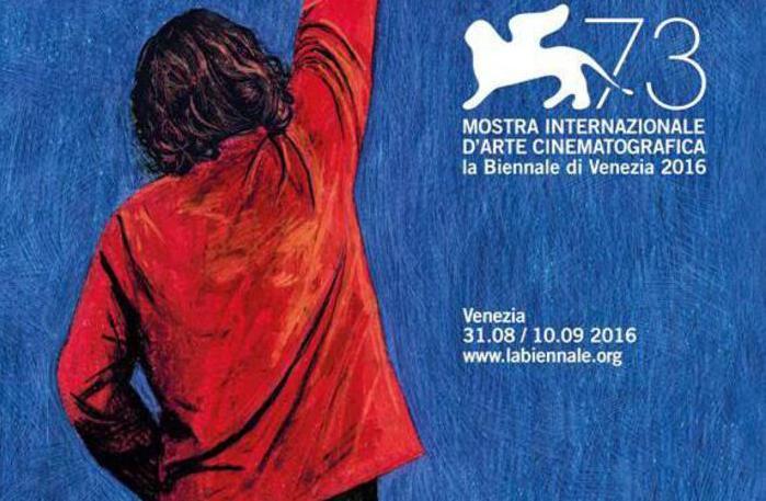Il manifesto ufficiale della prossima 73esima Mostra del Cinema di Venezia, ideato e realizzato per il quinto anno da Simone Massi (Foto © ANSA)