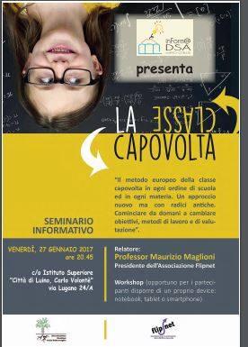 """A Luino: la """"Classe capovolta"""". A presentarla l'Associazione inForm@DSALuino Onlus"""