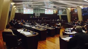 La seduta del Consiglio regionale lombardo riunito per la riforma socio-sanitaria