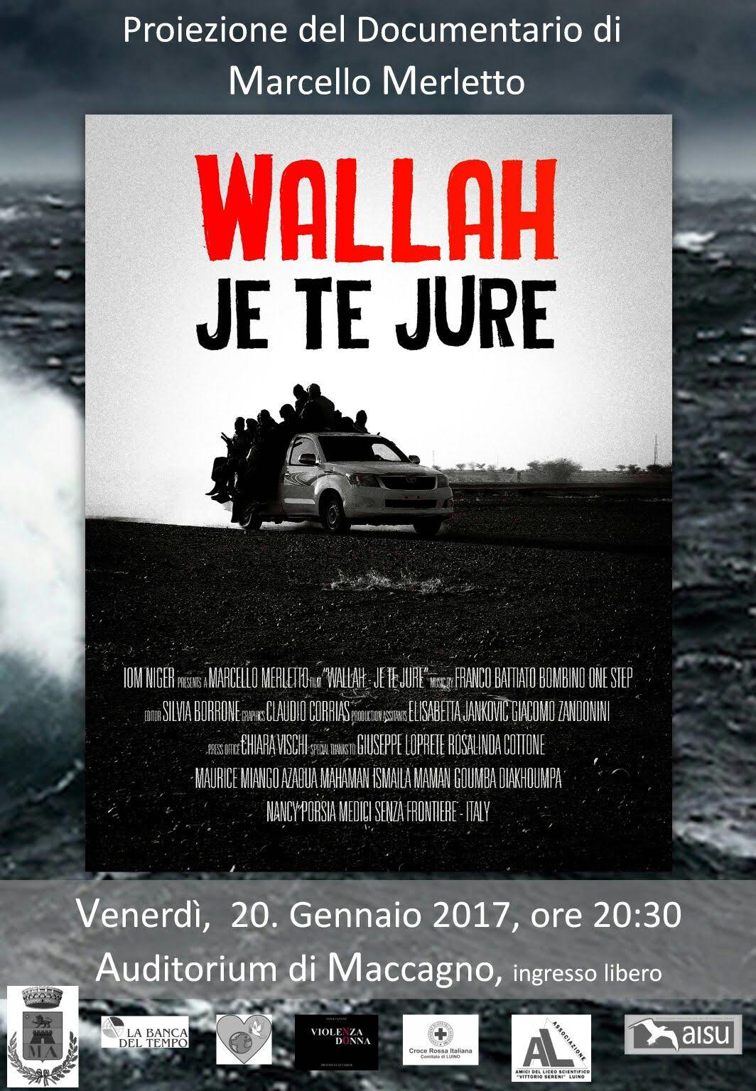 """L'Auditorium di Maccagno sul tema dell'immigrazione con il film """"Wallah, je te jure""""."""
