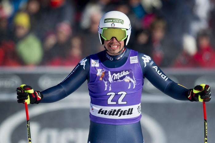 Peter Fill, vincitore della Coppa del Mondo di discesa libera  (Jon Olav Nesvold/NTB Scanpix via AP)