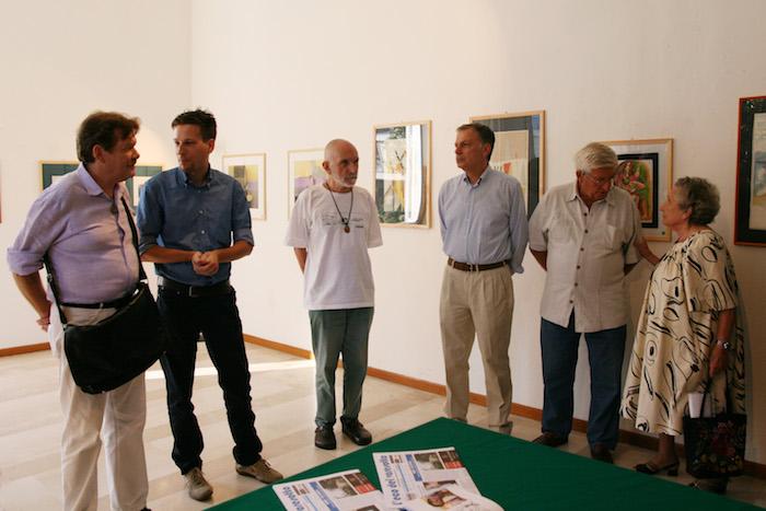 Piera Corsini nel settembre 2009 a Palazzo Verbania in occasione del vernissage della mostra di Ezio Forlino