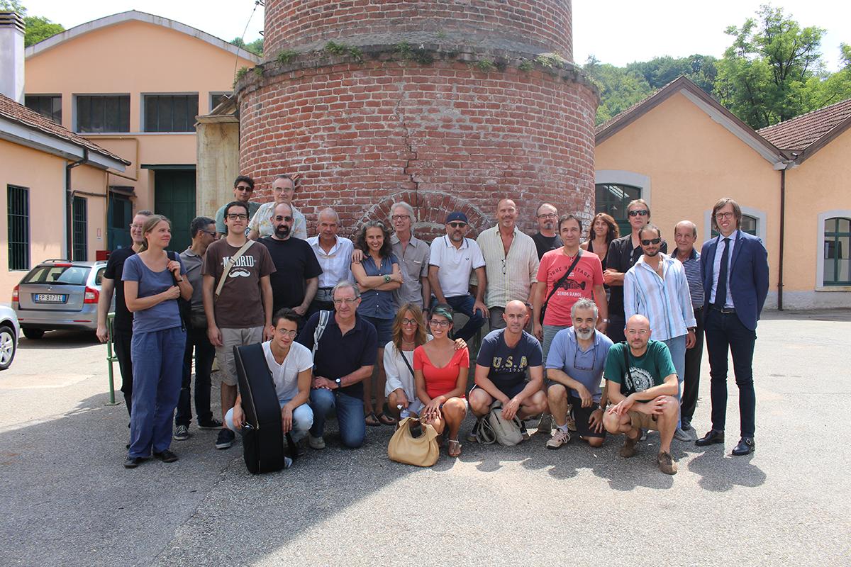 """La foto di gruppo del workshop """"L'Officina del Jazz"""""""
