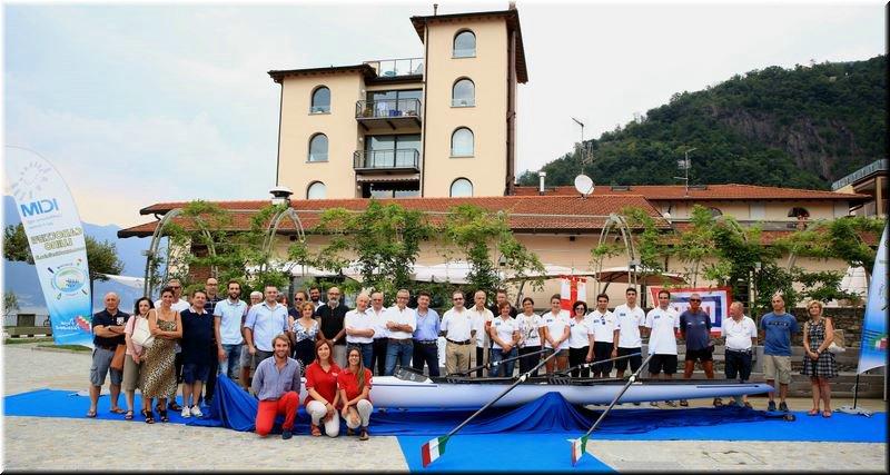 Maccagno, la Canottieri Luino battezza MPV il nuovo doppio Coastal Rowing
