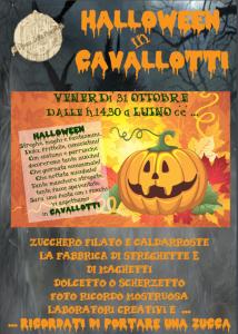 """La locandina di """"Halloween in Cavallotti"""" del 31 ottobre (facebook.com)"""
