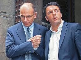 Il premier, Enrico Letta, con il neo segretario Pd e sindaco di Firenze, Matteo Renzi (tg3.rai.it)