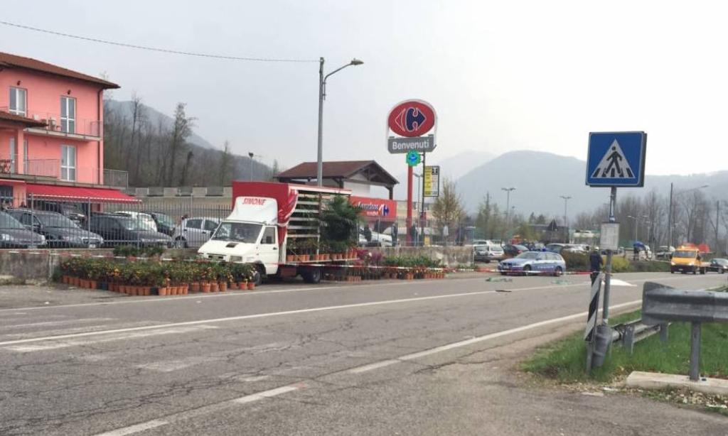 Il luogo dell'incidente mortale a Cugliate Fabiasco (su concessione di VareseNews.it)