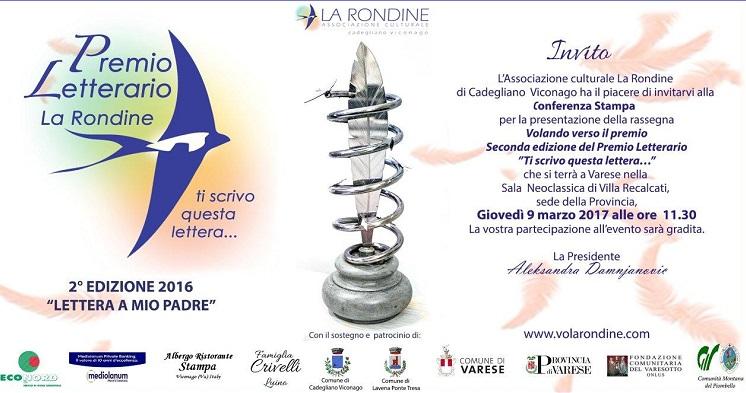 """""""Lettera a mio padre"""" il tema della seconda edizione del Premio Letterario La Rondine"""