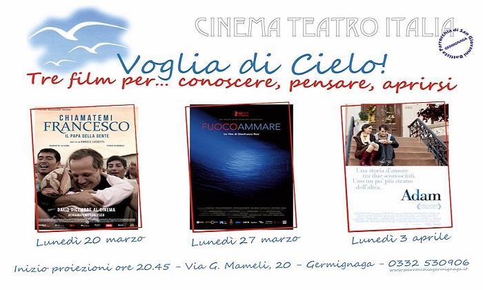 Germignaga, Cinema Teatro Italia: rassegna stampa con tre film per riflettere