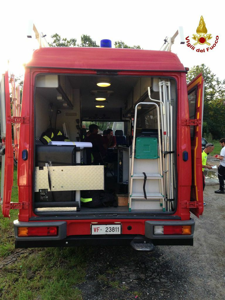 L'intervento dei Vigili del Fuoco per il recupero della signora a Montegrino Valtravaglia