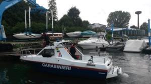 La motovedetta dei Carabinieri che ha permesso l'arresto di tre uomini
