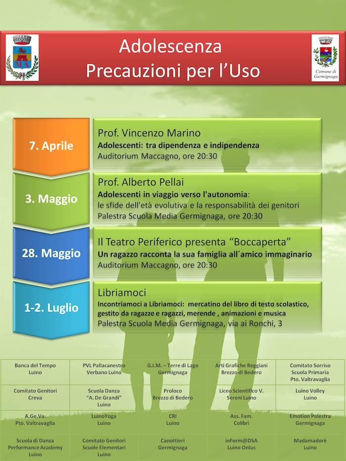 """Maccagno e Germignaga, tante associazioni insieme per """"Adolescenza - Precauzioni per l'uso"""""""
