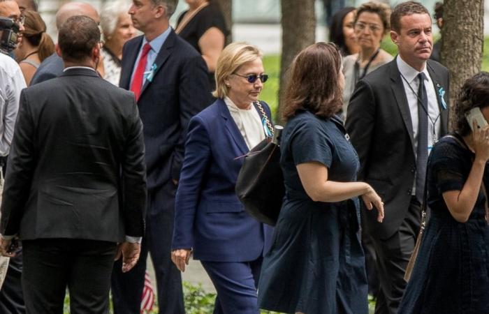 Hillary Clinton abbandona Ground Zero per colpa della polmonite
