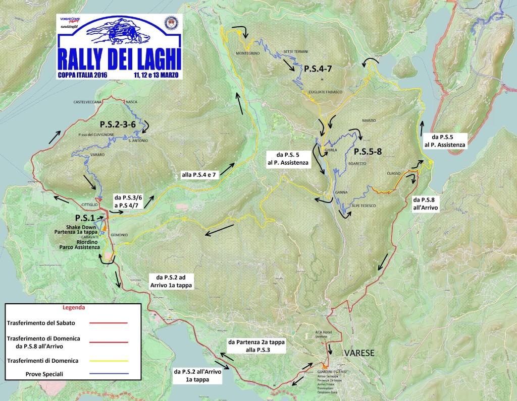 rid_Cartina 2016 completa - Giovedi si aprono le iscrizioni del Rally dei Laghi