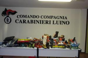 Tutta la refurtiva rintracciata da parte dei Carabinieri della Stazione di Luino
