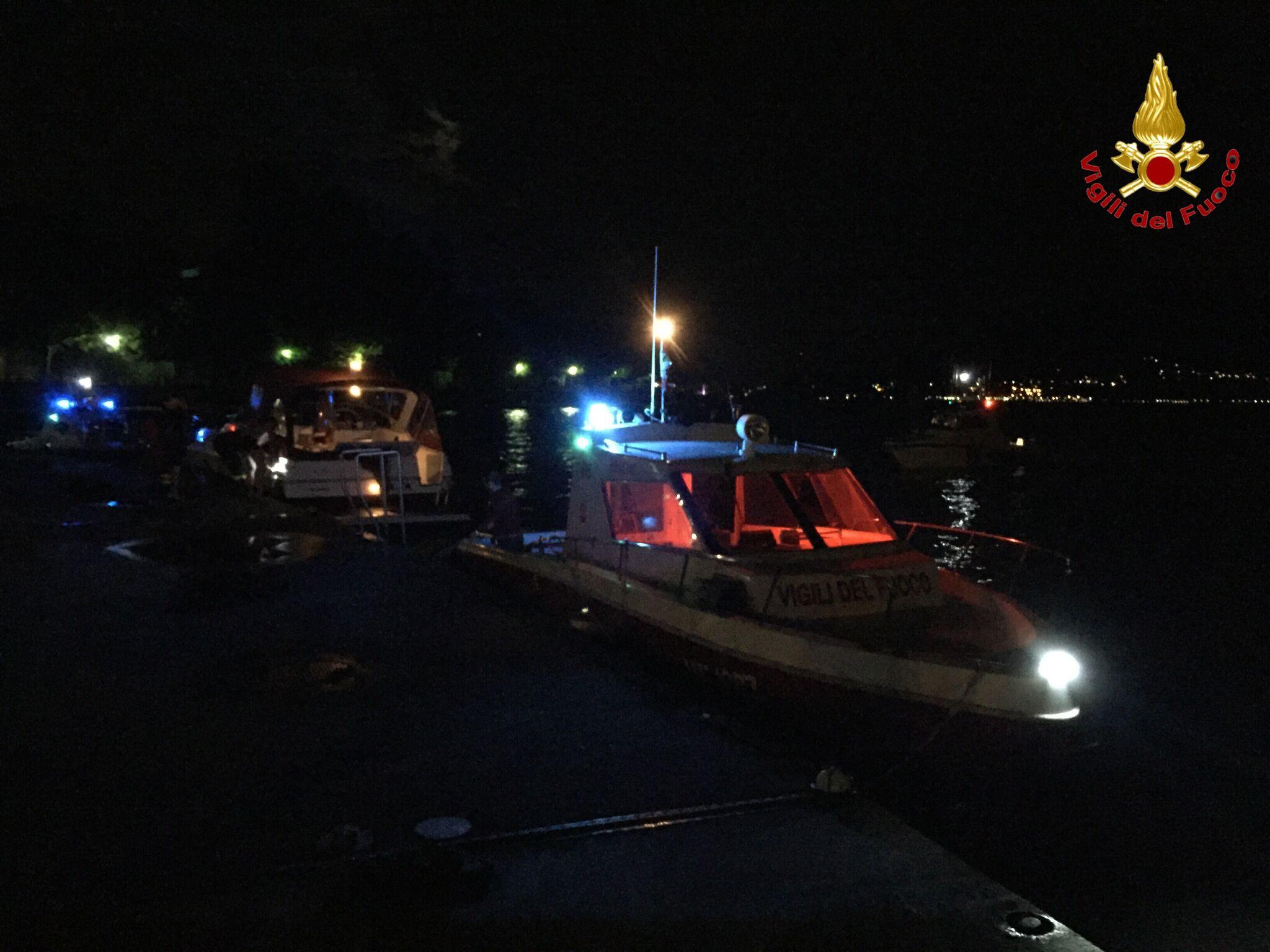 Porto Valtravaglia: ieri notte yacht alla deriva nelle acque del lago. Tratto in salvo un uomo