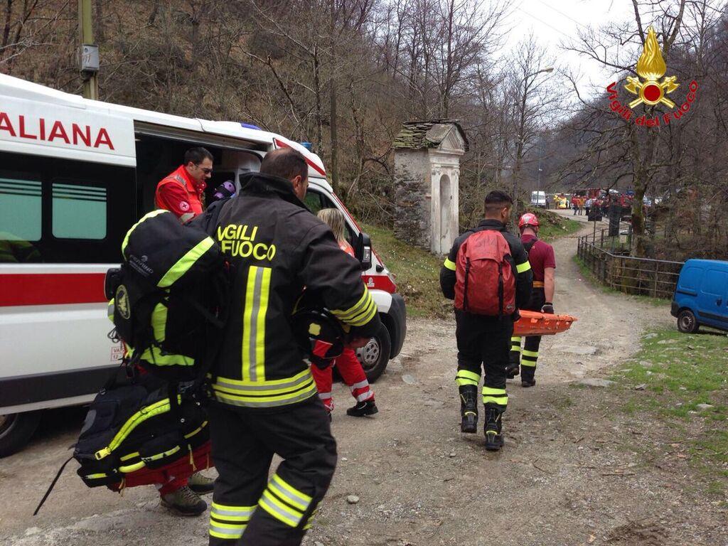 Curiglia con Monteviasco: cade in un sentiero, 70enne soccorso dall'elicottero